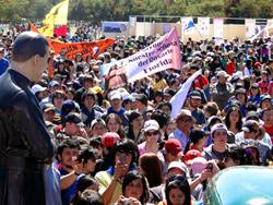 Más de 10 mil jóvenes peregrinaron a Yumbel